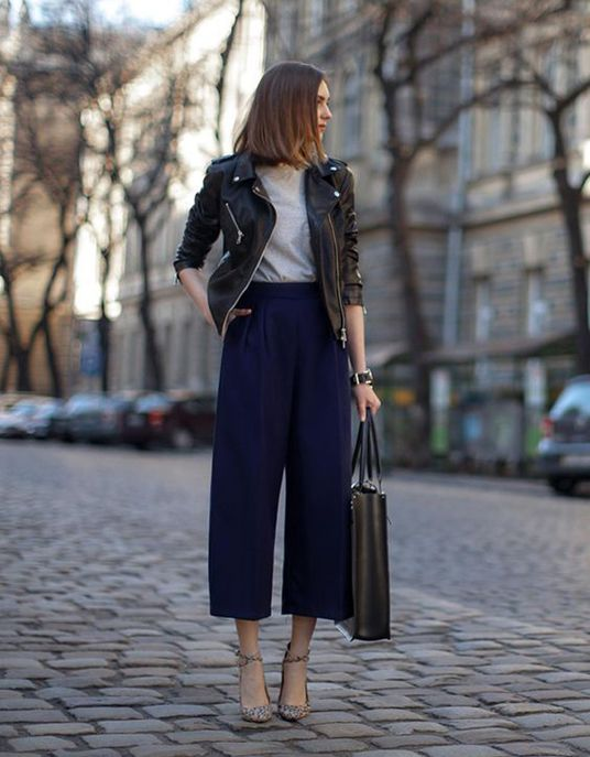 A carrot skirt with a black perfecto