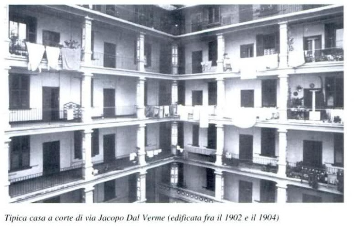 Casa a corte di via Jacopo dal Verme, 1902-1904