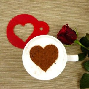 Szablon do dekoracji kawy SERCE - Trafiony prezent