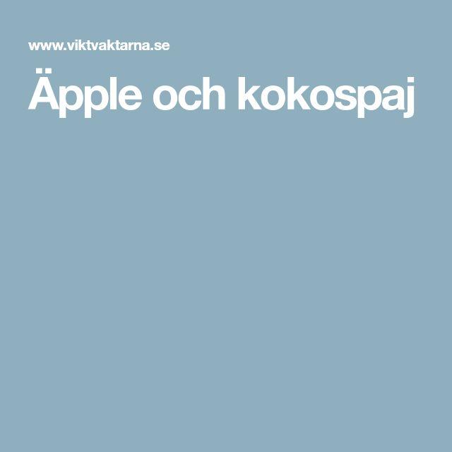 Äpple och kokospaj
