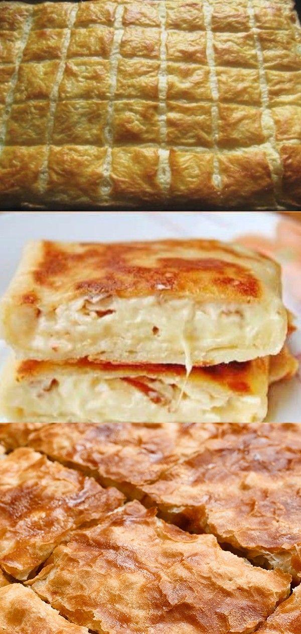 Этот слоеный пирог, как хачапури. Рецепт быстрого слоеного теста + вкуснейшая начинка из сыра! | Food dishes, Cooking recipes, Recipes