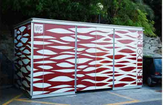 HABANA WC-Kiosk for Benidorm beach    customizable modular kiosk #microarquitectura #kiosk
