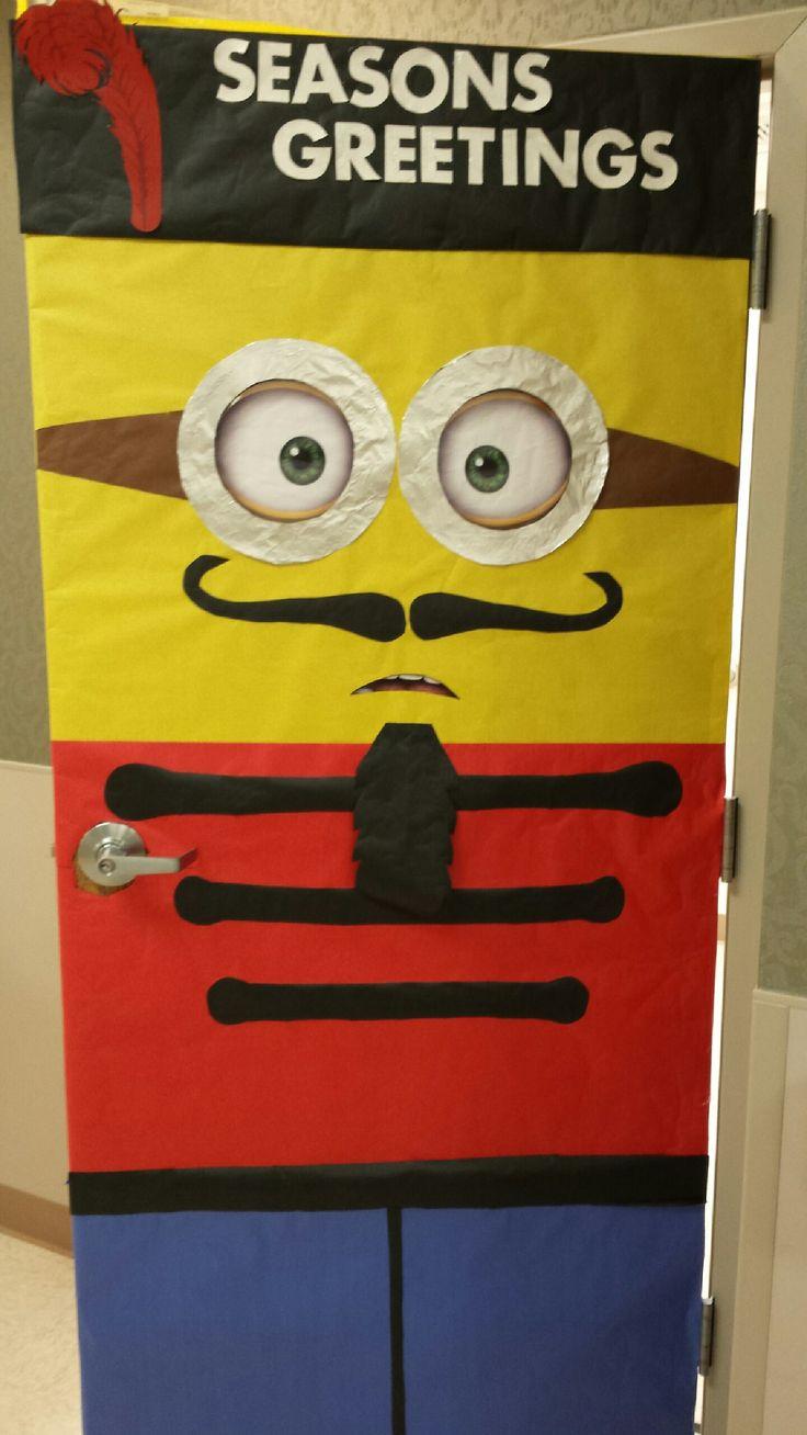 Holiday Door Decoration - Minion Nutcracker