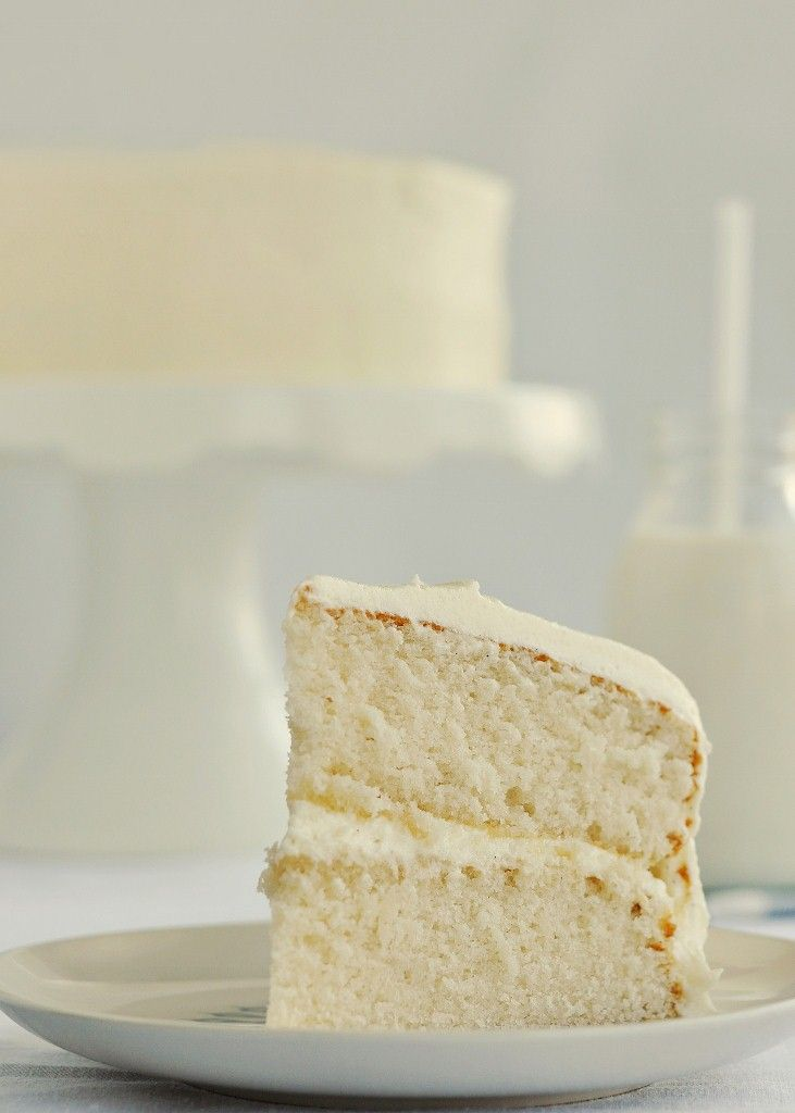 Fluffy Vanilla Cake with Whipped Vanilla Bean Frosting--purports to be as good as white cake mix...