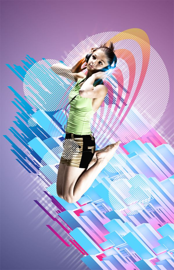 Create an Electrifying Music Poster with Geometrical Elements in Photoshop CS5 Extended   Photoshop Tutorials
