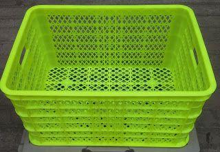 Selatan Jaya distributor barang plastik Surabaya: Keranjang plastik Super Kuat warna hijau