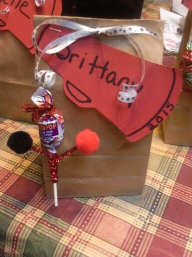 Gift bags for the cheerleaders who cheer with my daughter for Senior Night!