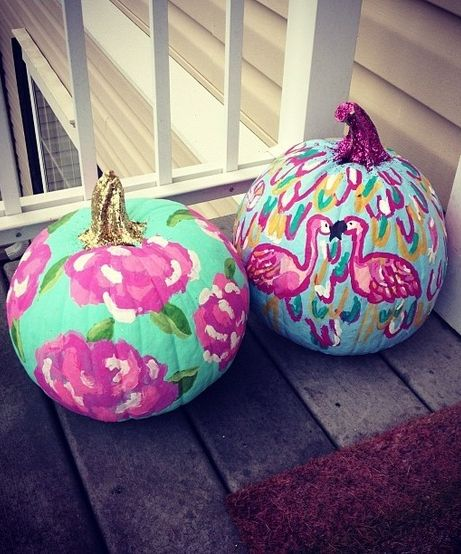 How Adorable Are These Preppy Pumpkins Autumn