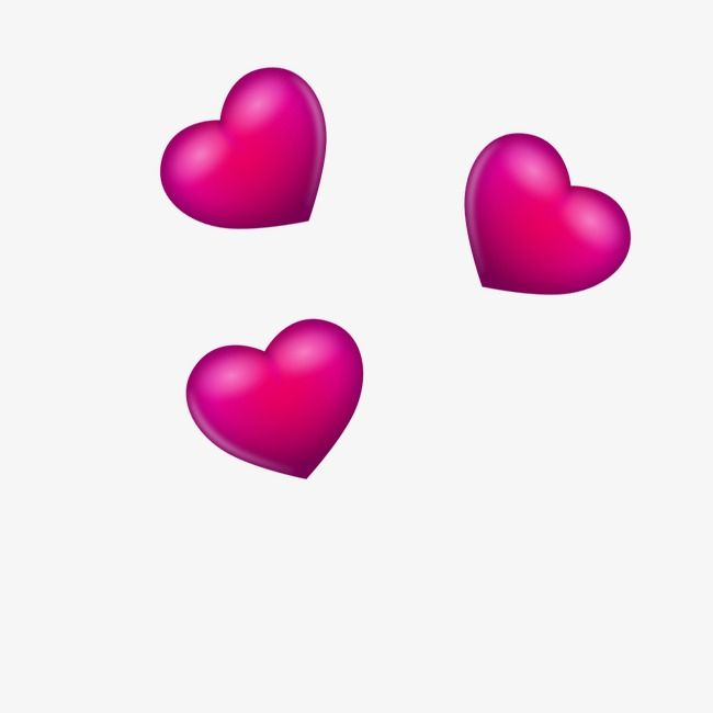 Three Dimensional Pieces Of Red Hearts Love Heart Emoji Three Dimensional Red Heart