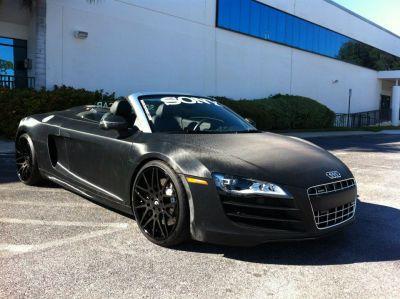 Matte Black 2011 Audi R8 5.2 quattro Spyder   $161,750 http://www.iseecars.com/used-car-finder#id=1540251321