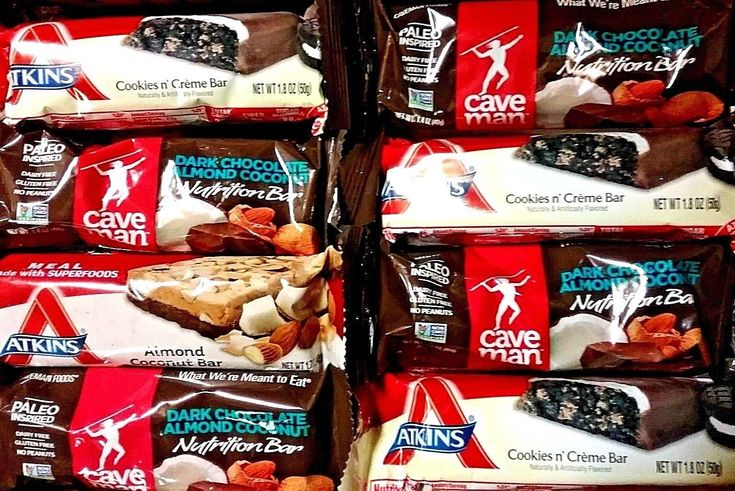 55 ATKINS PALEO INSPIRED CAVE MAN NUTRITION BAR PROTEIN ENERGY BARS FREE SHIPPIN