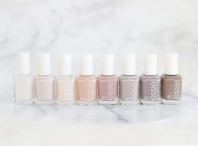 Pretty Essie Neutrals - can't wear color when working in disney