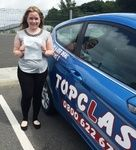 Congratulations to Katy Etches of Rochester Kent who passed her practical driving test  on Tuesday 7th July with our driving instructor Liz Downey.  Katy Passed her driving test at the Gillingham Driving test centre.  Now getting to College and visiting friends will be so much easier.   Well done Katy this should make a massive difference to you and will give you that all important independence.  All the best for the future from your driving instructor Liz and all the team at Topclass…