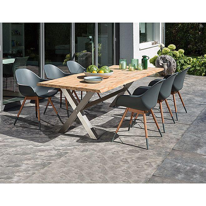 Sunfun Garten Tischplatte Bella 220 X 100 Cm Holz Naturbraun