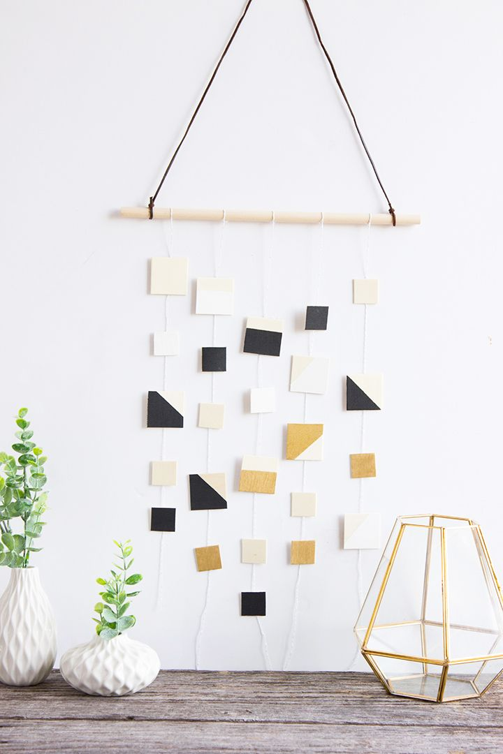 Simple Wood Square Wall Hanging Alice And Lois Handmade Wall Decor Diy Wall Decor Diy Wall