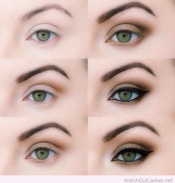 Wonderful makeup for green eyes tutorial
