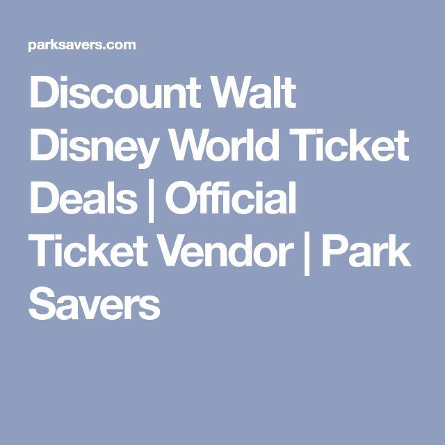 Discount Walt Disney World Ticket Deals | Official Ticket Vendor | Park Savers