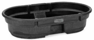 "Rubbermaid Commercial FG424300BLA Structural Foam Stock Tank, 50 Gallon Capacity, 52"" Length x 12"" Height, Black: Amazon.com: Industrial & S..."