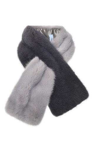 Degrade Mink Fur Scarf by BLUMARINE for Preorder on Moda Operandi