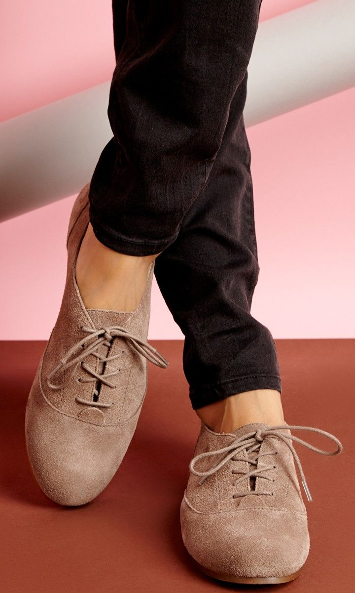 Genuine suede loafers with removable laces and slip on ease.
