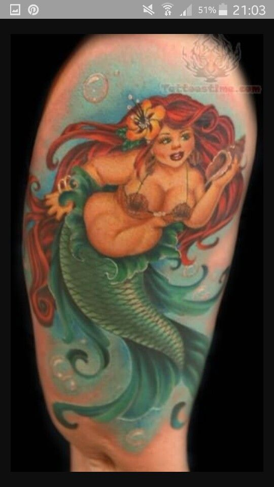 Mermaid plus size tattoo