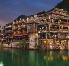 Ancient Village Built on The Jiang River, China