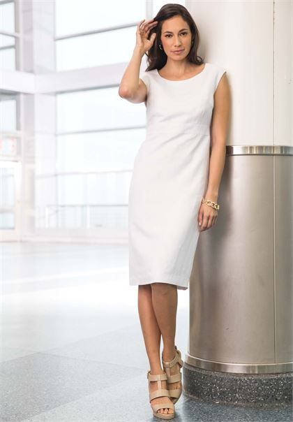 Linen Sheath Dress | Plus Size Work Dresses | Jessica London