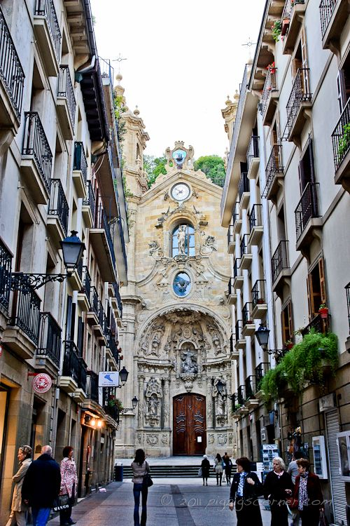 Donastia – San Sebastian, Spain. My favourite city in the world since I was a little girl. This is part of the old city.