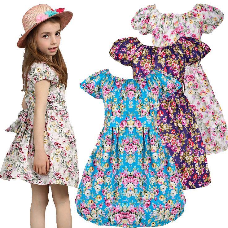 Для девочек с цветок 2015 летние детская одежда ну вечеринку pricess девочек цветочные принты платья детские одежду детей 2   12 леткупить в магазине DIDIOO Fashion Kids Ltd.наAliExpress