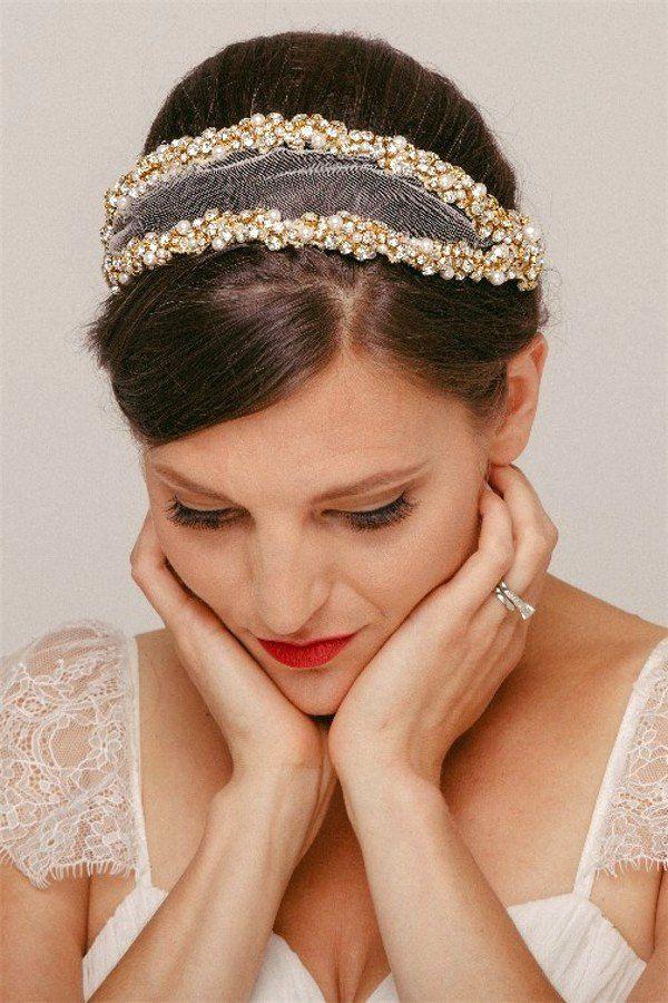 Grace: Vintage Juliet Cap Bridal Veil in Gold or Silver – Helen Irene Handmade