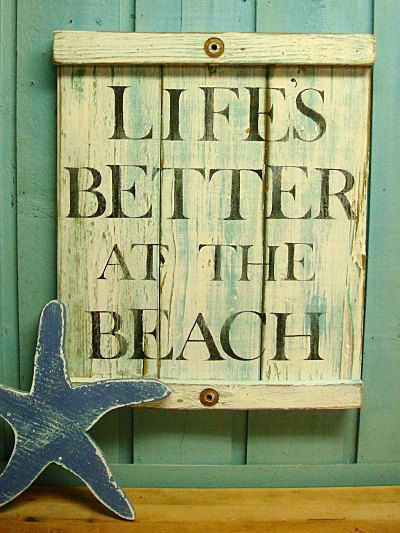Beach House Sign Life s Better at the Beach White Turquoise Weathered Wood  Sign by CastawaysHall. 142 best Panama City Florida images on Pinterest