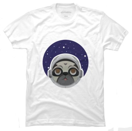 This Astropug T-shirt is designed by MairaB and is available in mens sizes S to 3XL, womens sizes S to 2XL and children's sizes XS to XL. You can get it as a singlet, long and short sleeved T-shirt, hoodie and art print printed on white only.   http://shrsl.com/?~c439