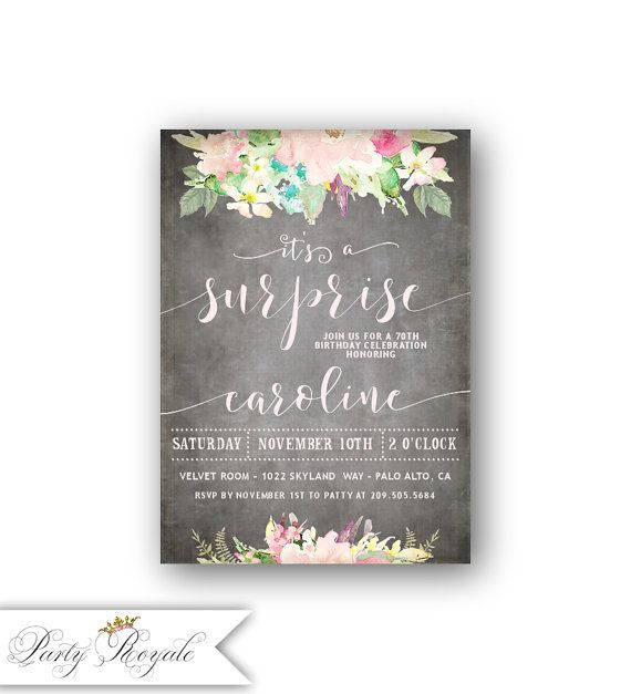 Best 25+ Surprise Birthday Invitations Ideas On Pinterest