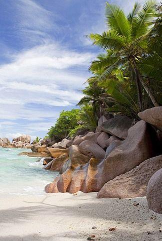 Anse Coco Beach, La Digue Island, Seychelles, Africa, Indian Ocean
