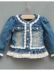 Girl's Lace Splicing Demin Coat – CAD $ 38.91
