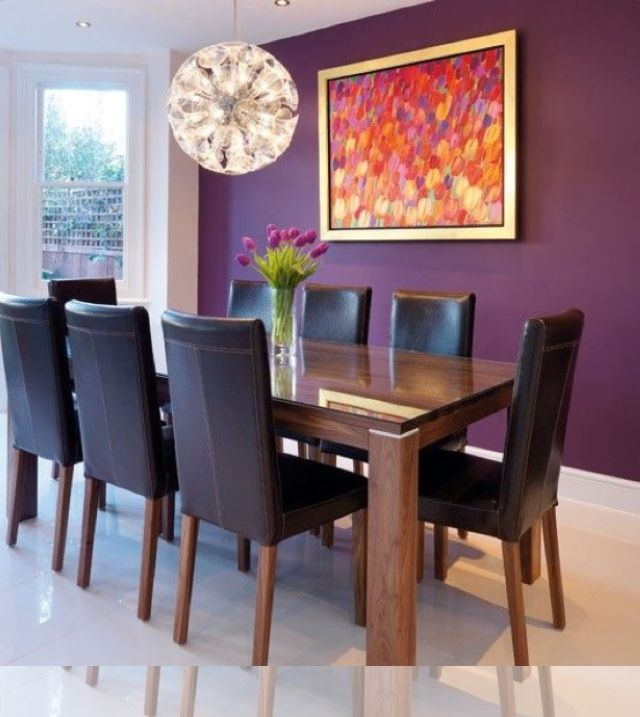 Pin By S On Paint Ideas Purple Dining Room Dining Room Colors Purple Living Room