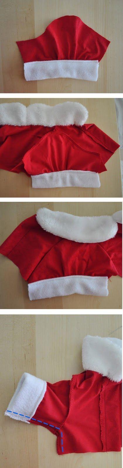 mangas vestido de navidad para perro