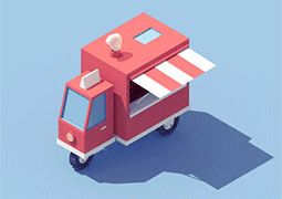 Animated Vehicles by Guillaume Kurkdjian