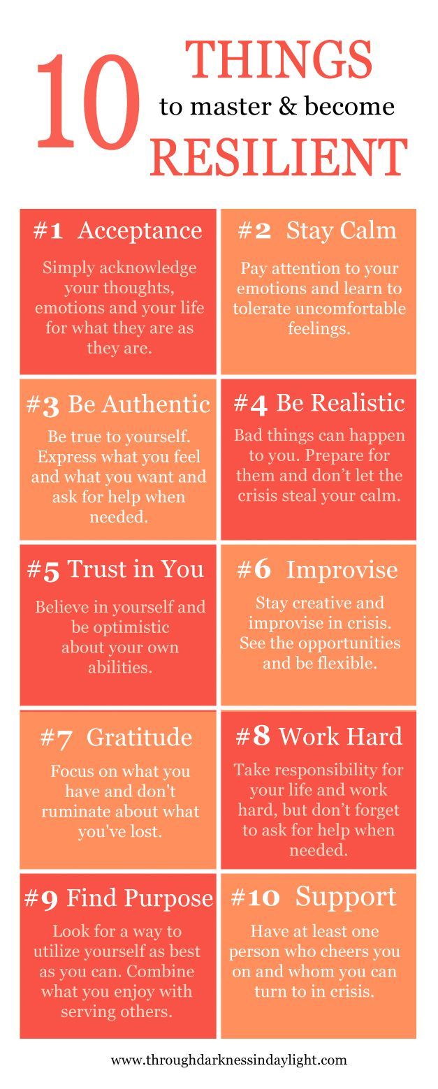 10 things to master & become resilient