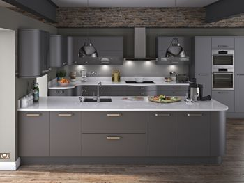 Buy Carrera Painted Graphite Kitchen Doors at Trade Prices - DIY Kitchens
