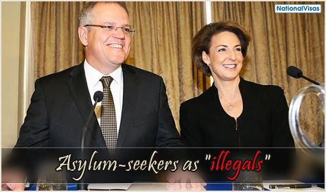 Immigration Minister Morrison touts use of correct term for asylum-seekers