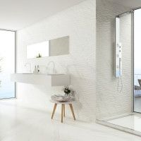 View Tasos Matt Glazed Ceramic Wall Tile 400x1200mm