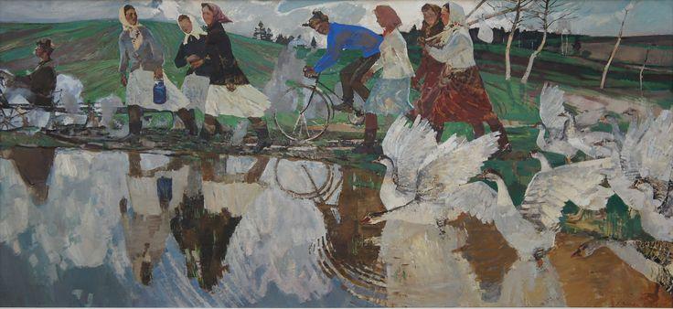 """Vyacheslav Zagonek, """"Morning,"""" 1959-1960, oil on canvas."""