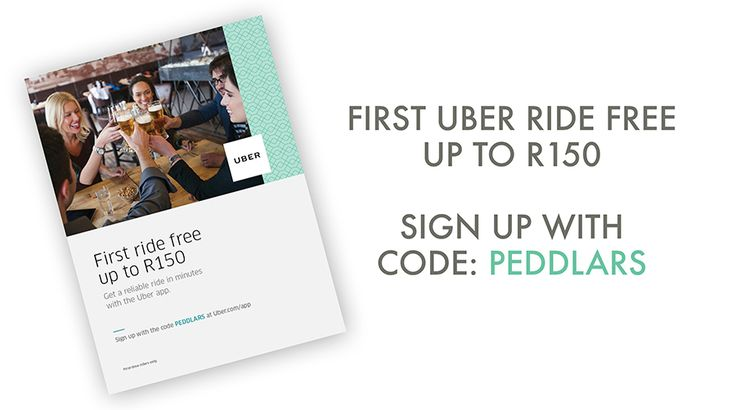 Peddlars & Co teams up with Uber South Africa to bring new Uber users a FREE ride to or from Peddlars worth R150. Sign up with the code PEDDLARS now and get riding!