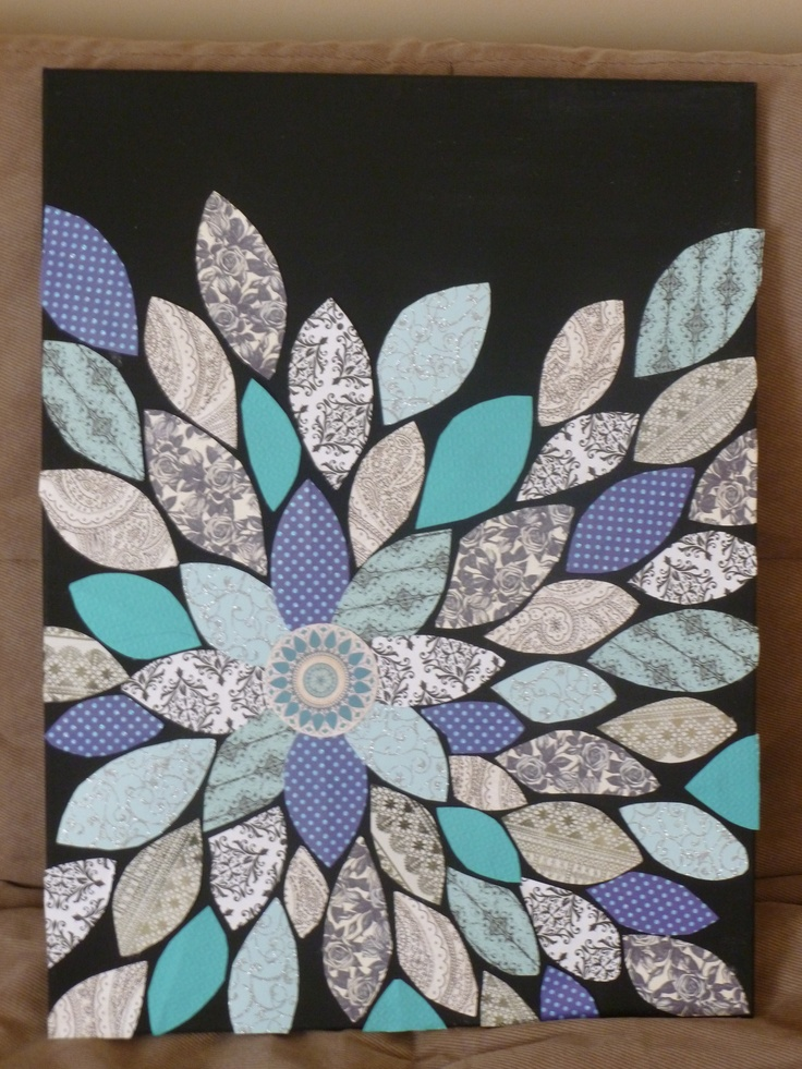 Diy Wall Art Using Scrapbook Paper : Easy diy scrapbook paper wall art decor use different