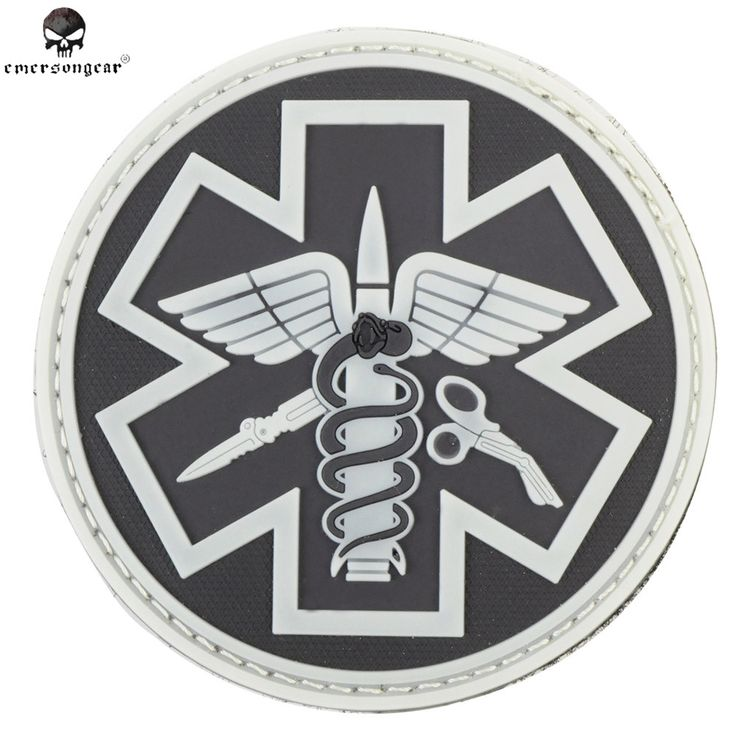 Emerson Airsoft Combat DIY Rubber Paramedic 3D PVC Patch Airsoft Hunting Placa De PVC Military Fan Pathces For Outdoor Hunting