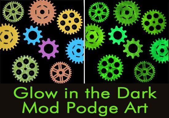 Glow in the Dark Mod Podge Art via Mom's Crafty Space