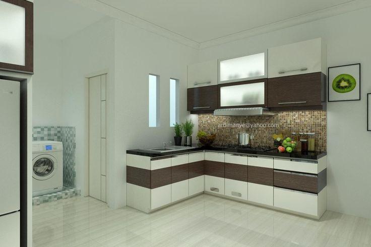 interior dapur minimalis kitchen set Makassar