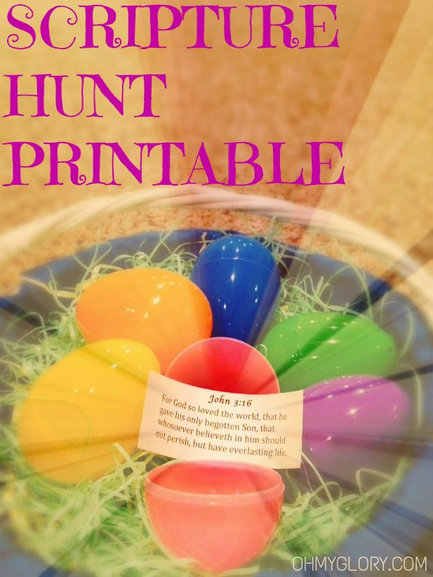 Free Easter Scripture Hunt Printable! Use this to teach your children the true meaning of Easter while also providing a fun and engaging activity.