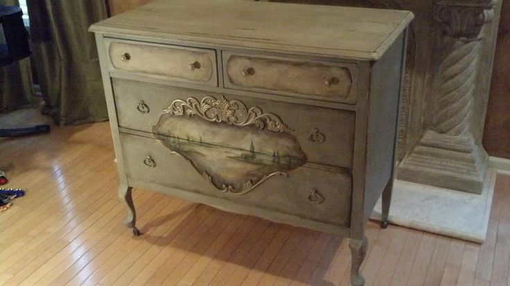 Custom Painted Dresser By Kelliescreations.com Like Me On Face Book Under  Kellies Creations In